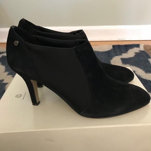 sports shoes size 7 to buy Anne Klein Belicimo Black Suede Ankle Booties